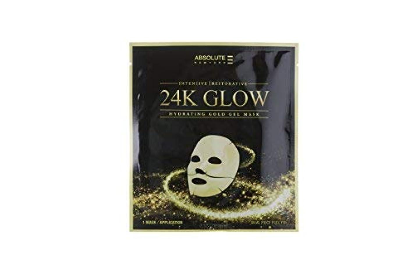 誇張するアフリカ以降Absolute 24K Glow Gold Gel Mask (並行輸入品)