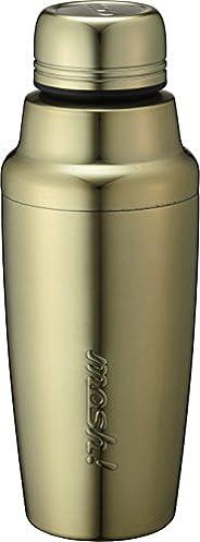 水筒 真空断熱 スクリュー式 シェイカー ボトル 0.35L ミラーゴールド mosh! (モッシュ!) DMSH350GD