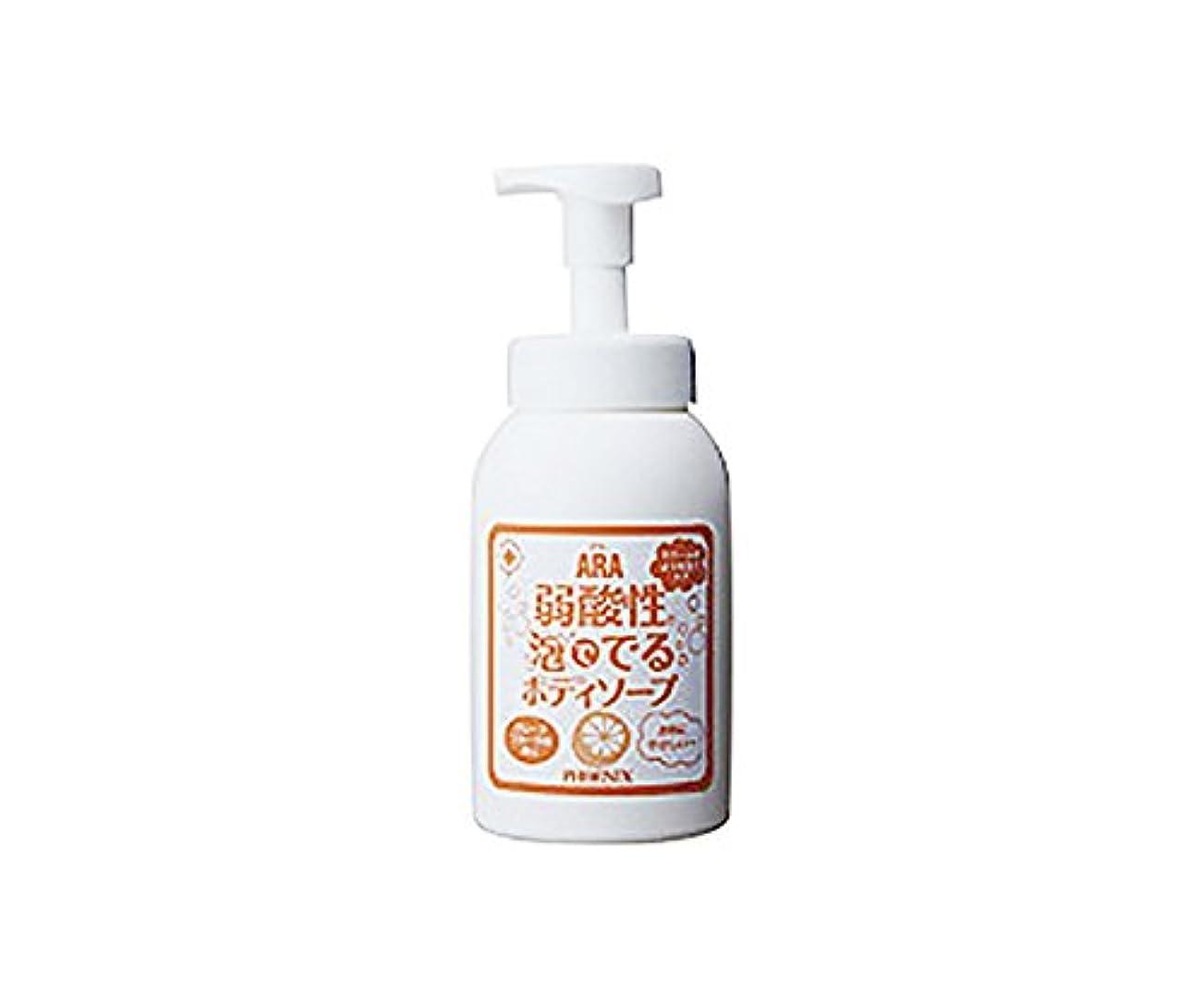 洗剤読みやすい広告する弱酸性泡ででるボディソープ (アラ) 550mL /7-2238-01