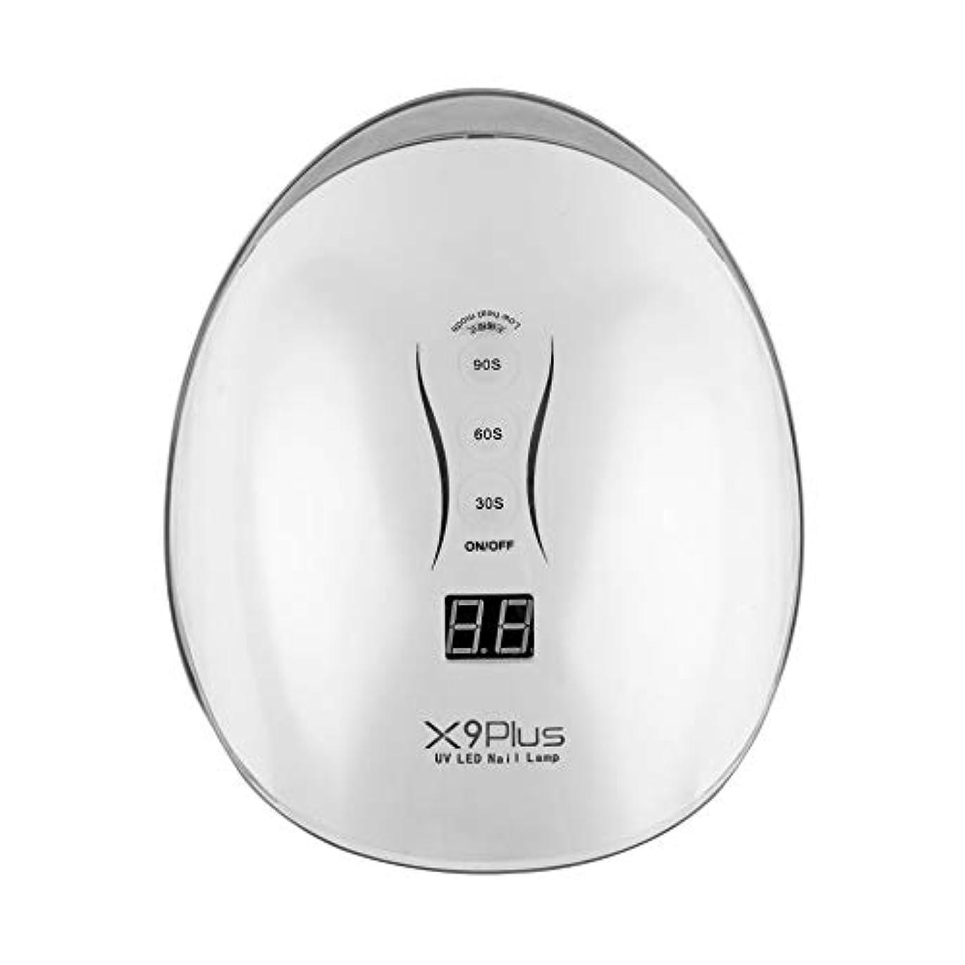電球マイコン玉30/60/90秒タイマー付きジェルネイルドライヤー用48W LED UVネイルランプ,白
