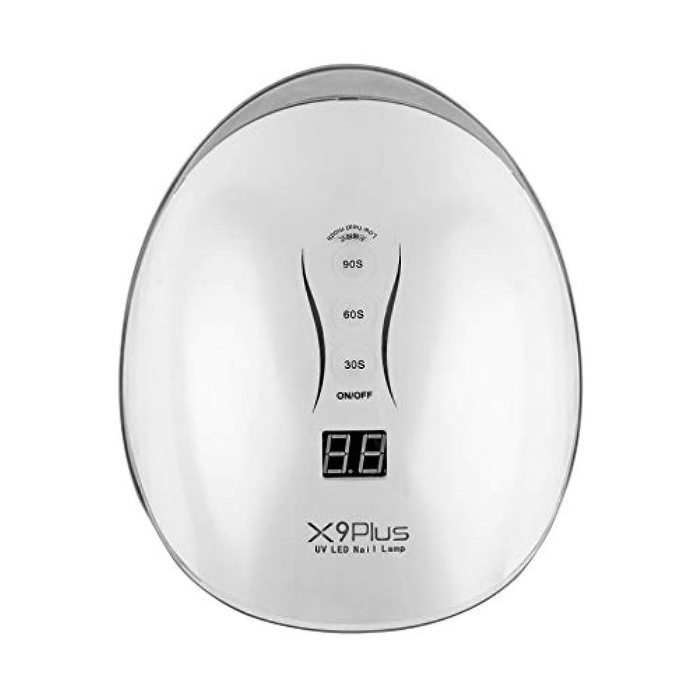 回想会計士フロー30/60/90秒タイマー付きジェルネイルドライヤー用48W LED UVネイルランプ,白