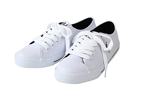 POLO RALPHLAUREN SCHOLAR/ポロ・ラルフローレン スニーカー スカラー/ホワイト 991353/靴 シューズ (US6.5/25.5cm) [並行輸入品]