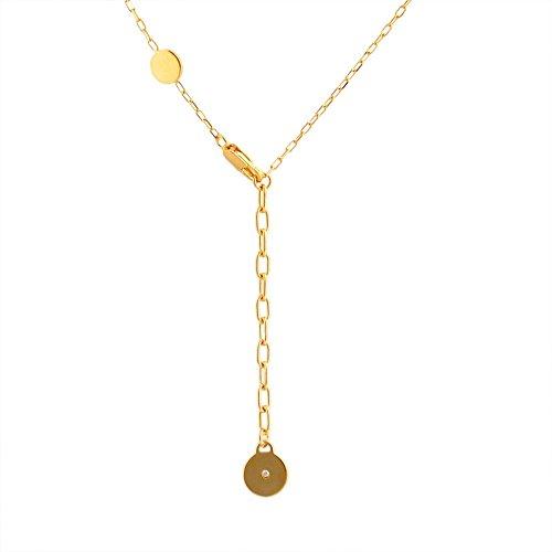 (マークジェイコブス) MARC JACOBS M0008546-062 Black/Oro ロゴ ディスク エナメル ペンダント/ネックレス Logo Disc Enamel Pendant [並行輸入品]