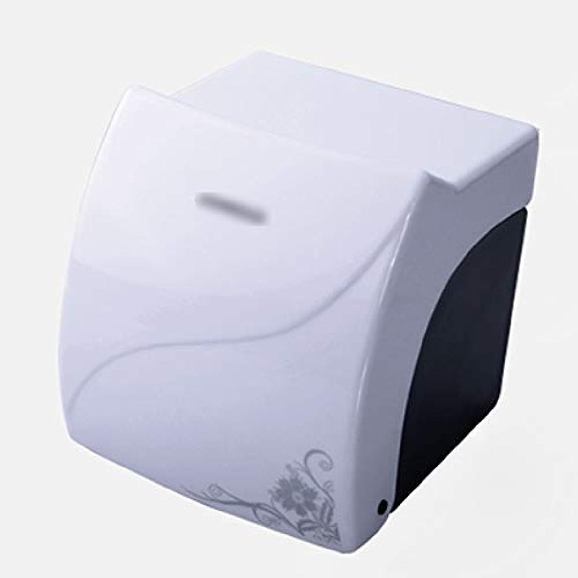 貼り直す生態学インテリアZZLX 紙タオルホルダー、高品質ABS防水ティッシュボックストイレットペーパーボックスペーパーホルダー ロングハンドル風呂ブラシ