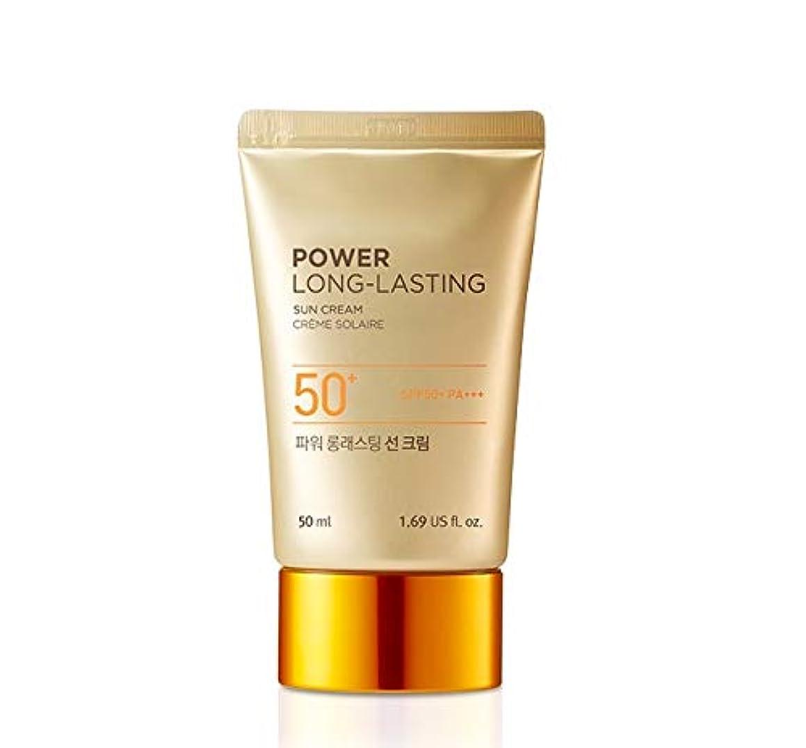 幸福摂動真鍮The Face ShopフェイスショップパワーロングラスティングサンクリームSPF50 + PA +++韓国の有名化粧品ブランドの人気日焼け止め皮膚の保護のスキンケアのしわ防止