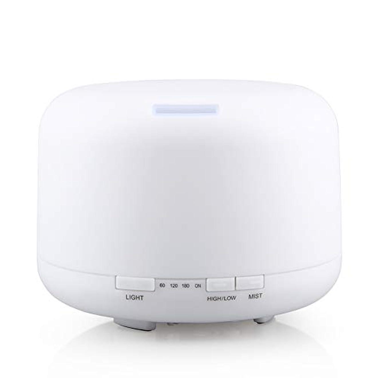 コメント聞くリクルート500ml 家庭用加湿器プラグイン超音波アロマセラピーマシンエッセンシャルオイル加湿器ホームナイトライト