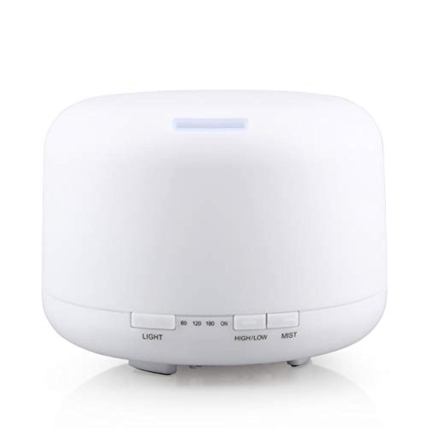 500ml 家庭用加湿器プラグイン超音波アロマセラピーマシンエッセンシャルオイル加湿器ホームナイトライト