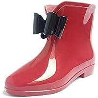 MEIGUIshop Rain Boots - Non-Slip wear-Resistant Waterproof Tube Bow rain Boots