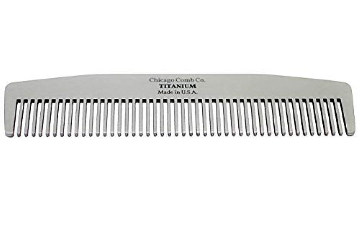 驚順番巡礼者Chicago Comb Model No. 3 Titanium, Made in USA, Ultra-Smooth, Strong, Light, Anti-Static, 5.5 in. (14 cm) Long...