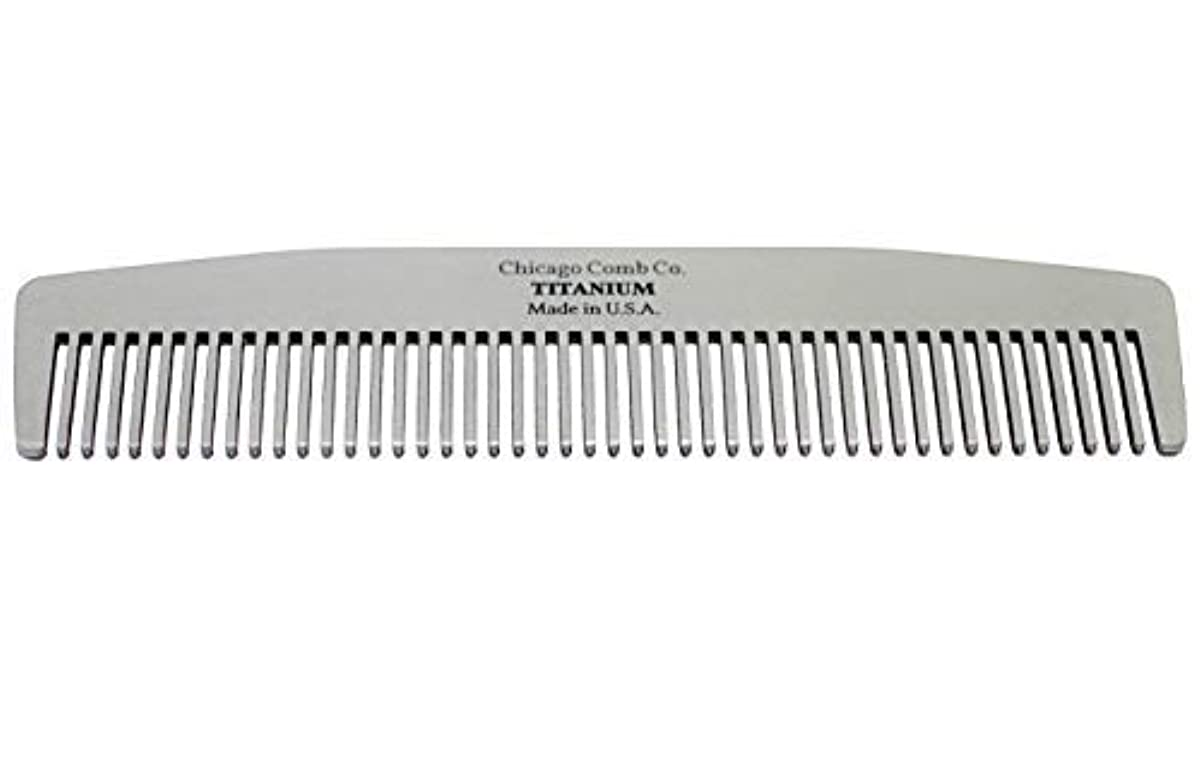 すり瞳ブレーキChicago Comb Model No. 3 Titanium, Made in USA, Ultra-Smooth, Strong, Light, Anti-Static, 5.5 in. (14 cm) Long...