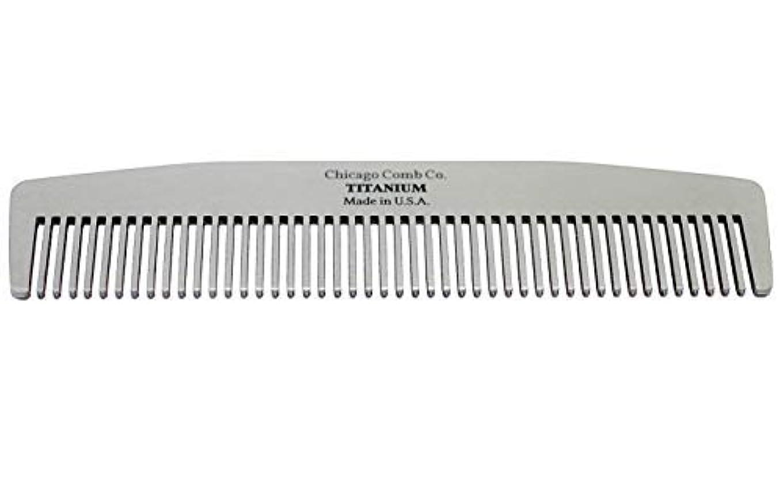 誰でもが欲しい深いChicago Comb Model No. 3 Titanium, Made in USA, Ultra-Smooth, Strong, Light, Anti-Static, 5.5 in. (14 cm) Long...