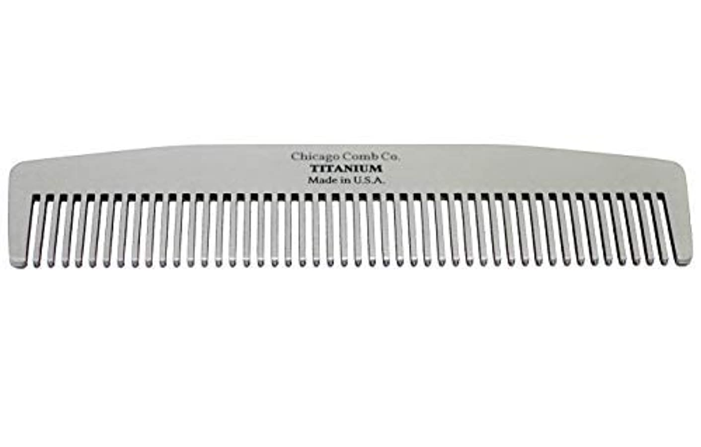 引き金明確にメタルラインChicago Comb Model No. 3 Titanium, Made in USA, Ultra-Smooth, Strong, Light, Anti-Static, 5.5 in. (14 cm) Long...