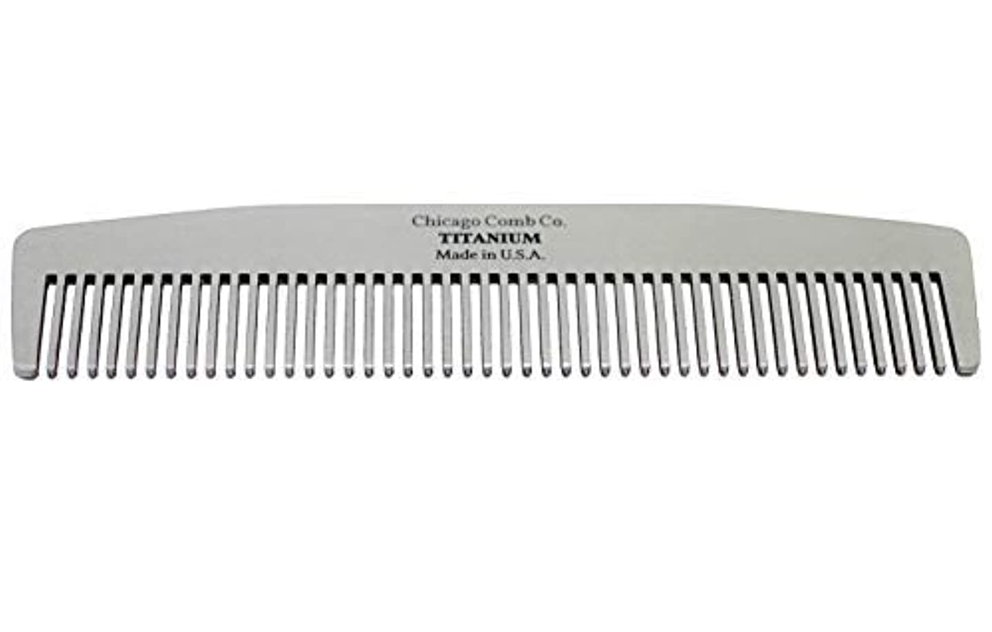 試験アルカイックアジアChicago Comb Model No. 3 Titanium, Made in USA, Ultra-Smooth, Strong, Light, Anti-Static, 5.5 in. (14 cm) Long...