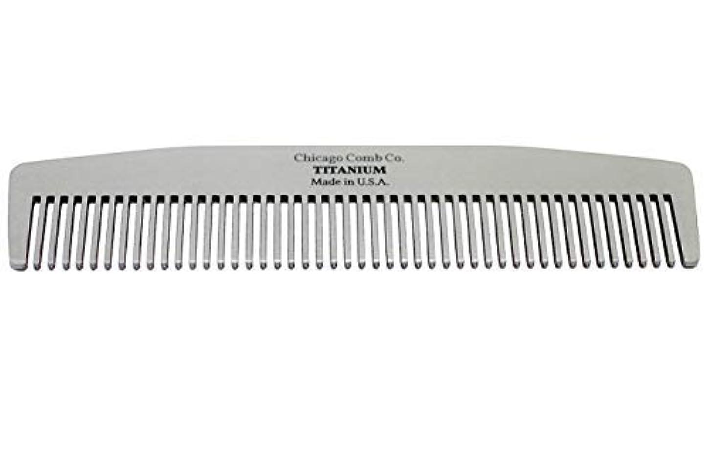 考慮ミュージカルチートChicago Comb Model No. 3 Titanium, Made in USA, Ultra-Smooth, Strong, Light, Anti-Static, 5.5 in. (14 cm) Long...