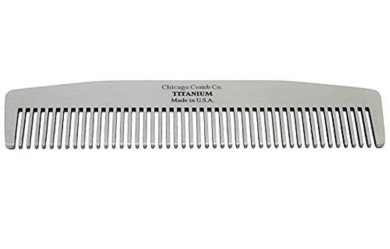 縞模様の教養がある適合するChicago Comb Model No. 3 Titanium, Made in USA, Ultra-Smooth, Strong, Light, Anti-Static, 5.5 in. (14 cm) Long...