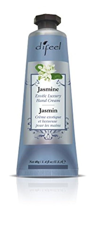 ポンプメジャー主観的Difeel(ディフィール) ジャスミン ナチュラル ハンドクリーム 40g JASMINE 08JASn New York