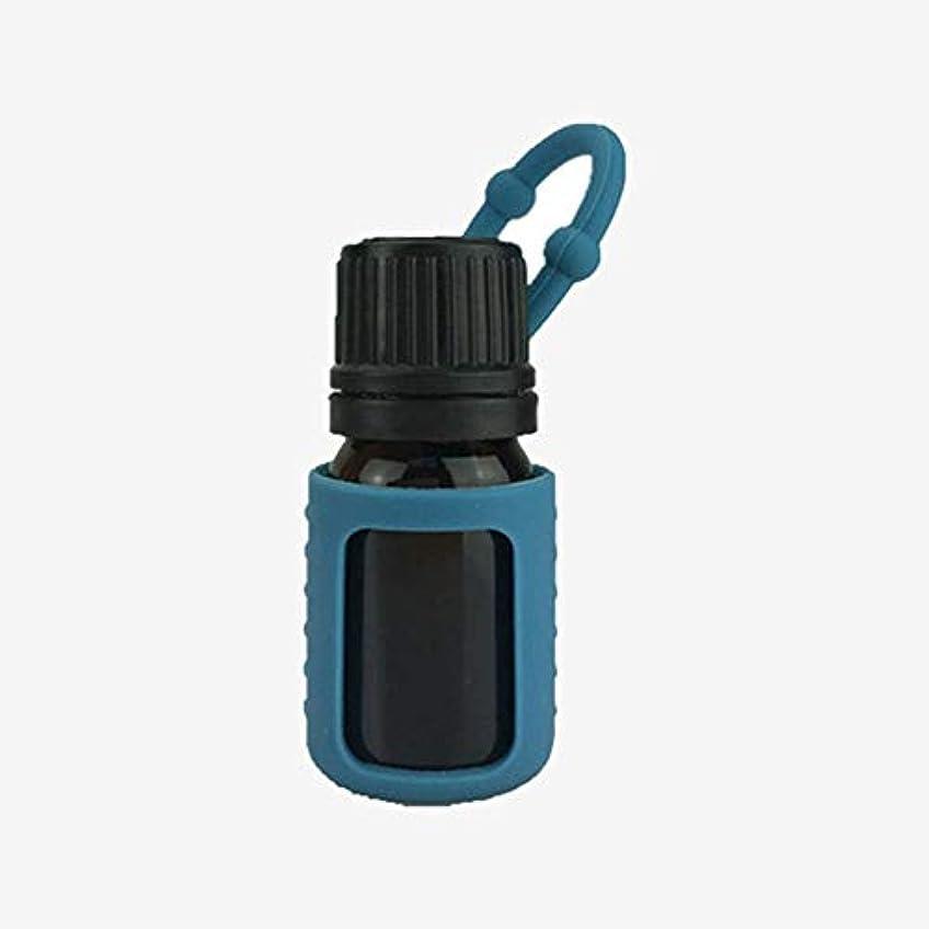 個性インフルエンザがっかりするシリコンスリーブ5/10 / 15mlエッセンシャルオイルボトルプロテクターシリコン保護ケースカバーランダムカラー