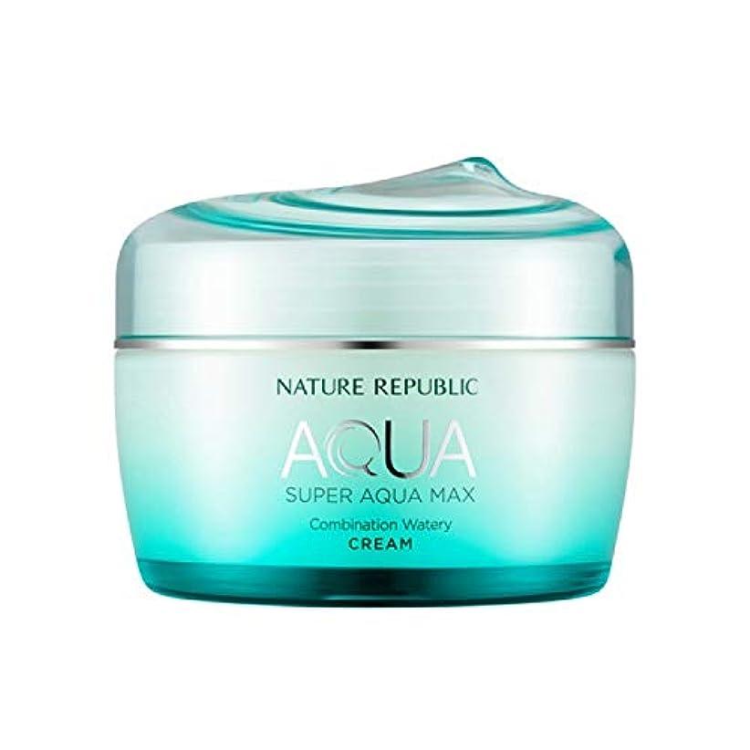 香りコンクリート不透明なネイチャーリパブリック(Nature Republic)スーパーアクアマックスコンビネーション水分クリーム [複合肌用] 80ml / Super Aqua-Max Combination Moisture Cream...