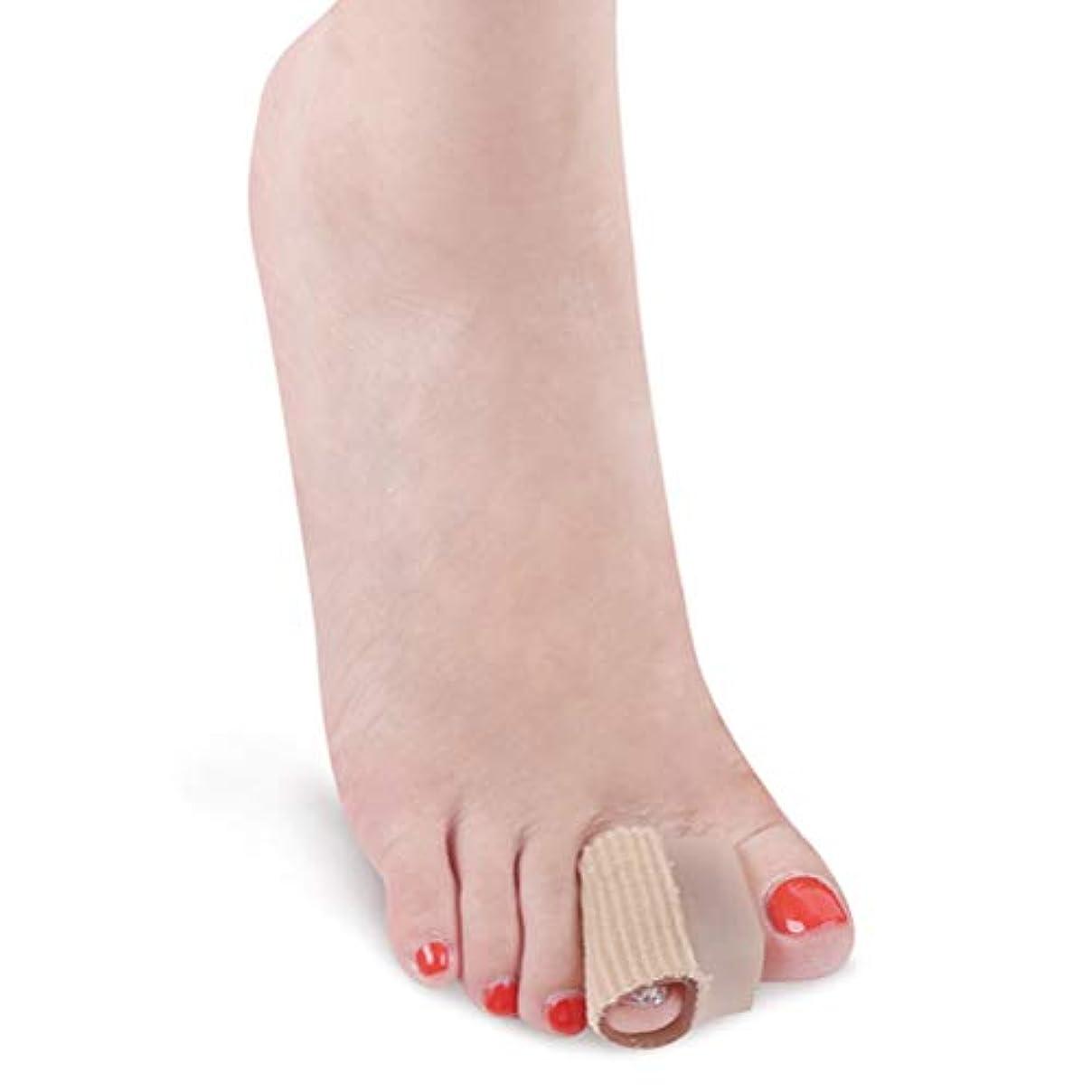 先祖チャーター導体SUPVOX 足指サポーター 指間広げる 足指矯正パッド つま先の保護 バニオン防止 健康グッズ 足指の分離 A型 痛みを和らげる トゥスペーサー カーキ 2 個入