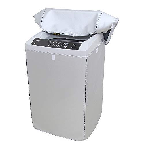 [Mr. You ]洗濯機カバー 防水生地 シルバー 防水 防日焼け ベルクロ式 (L 58*62*92 防水生地)