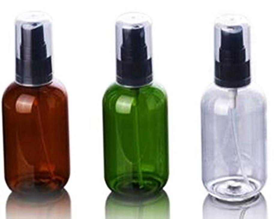 包帯後世満足ShopXJ 大容量 アトマイザー プッシュ式 選べる3色カラー (クリア 50ml)