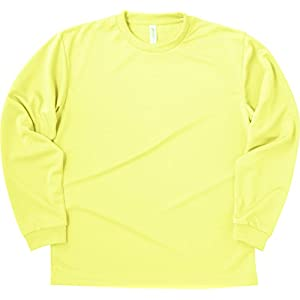 [グリマー]4.4オンス ドライ長袖Tシャツ 00304-ALT[メンズ] ALT ライトイエロー 日本 S (日本サイズS相当)