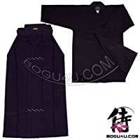 剣道のセットを( Uniform ) bogu4u =デラックス100 %コットン二層GI and 10000番剣道袴( Including 1つFree double-knit Tenugui )