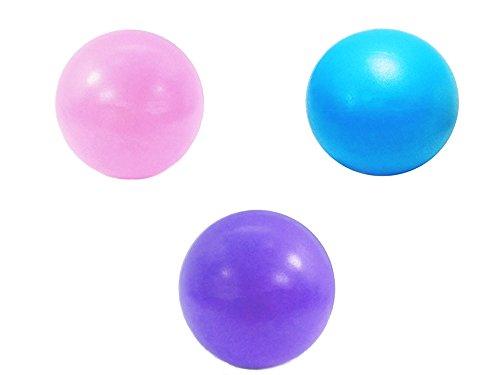 Best Choose ピラティス ヨガ ボール 20cm バランスボール ミニタイプ 3個 (1個ピンク+1個ブルー+1個パープル)