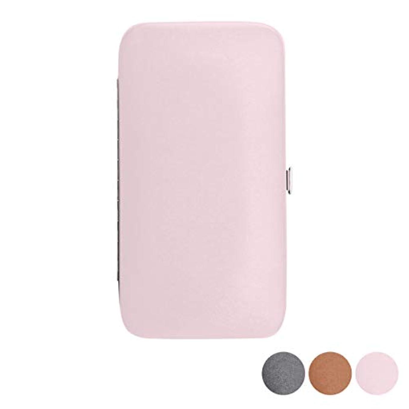 円形のコンパスカウボーイマグネット式 ツイーザーケース 全3色 ピンク [ ツイーザー ツィーザー ツイザー 毛抜き ピンセット 脱毛 アイラッシュ まつげエクステ まつ毛エクステ まつエク マツエク ネイル サロン 業務用 ]