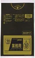 【お買得】ジャパックス 業務用ポリ袋 20L 黒 0.020mm 600枚 10枚×60冊入 TM27