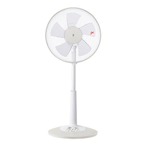 山善 30cmリビング扇風機 (押しボタンスイッチ)(風量3段階) タイマー付 ホワイトベージュ YLT-C30(WC)
