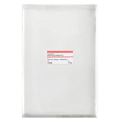 透明OPP袋 テープ付 160×225+フタ40mm ≪A5用紙/青年コミック向け≫ 30ミクロン 【100枚】
