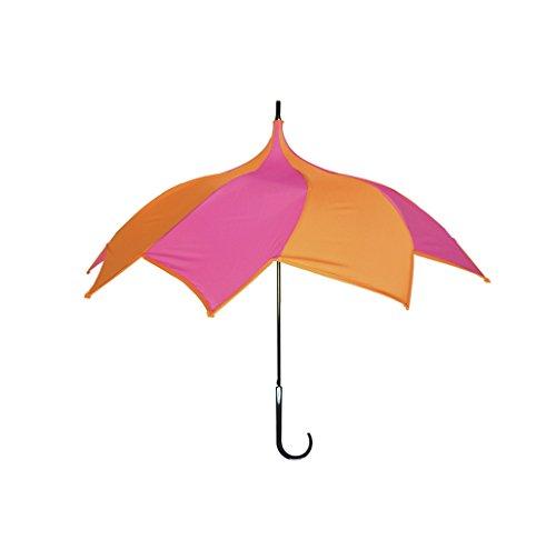 【正規輸入品】 ディチェザレ デザイン スパイラル ウォーカー カラーコンビ 全4色 長傘 手開き 日傘/晴雨兼用 ピンク&オレンジ 10本骨 65cm 大判 グラスファイバー骨