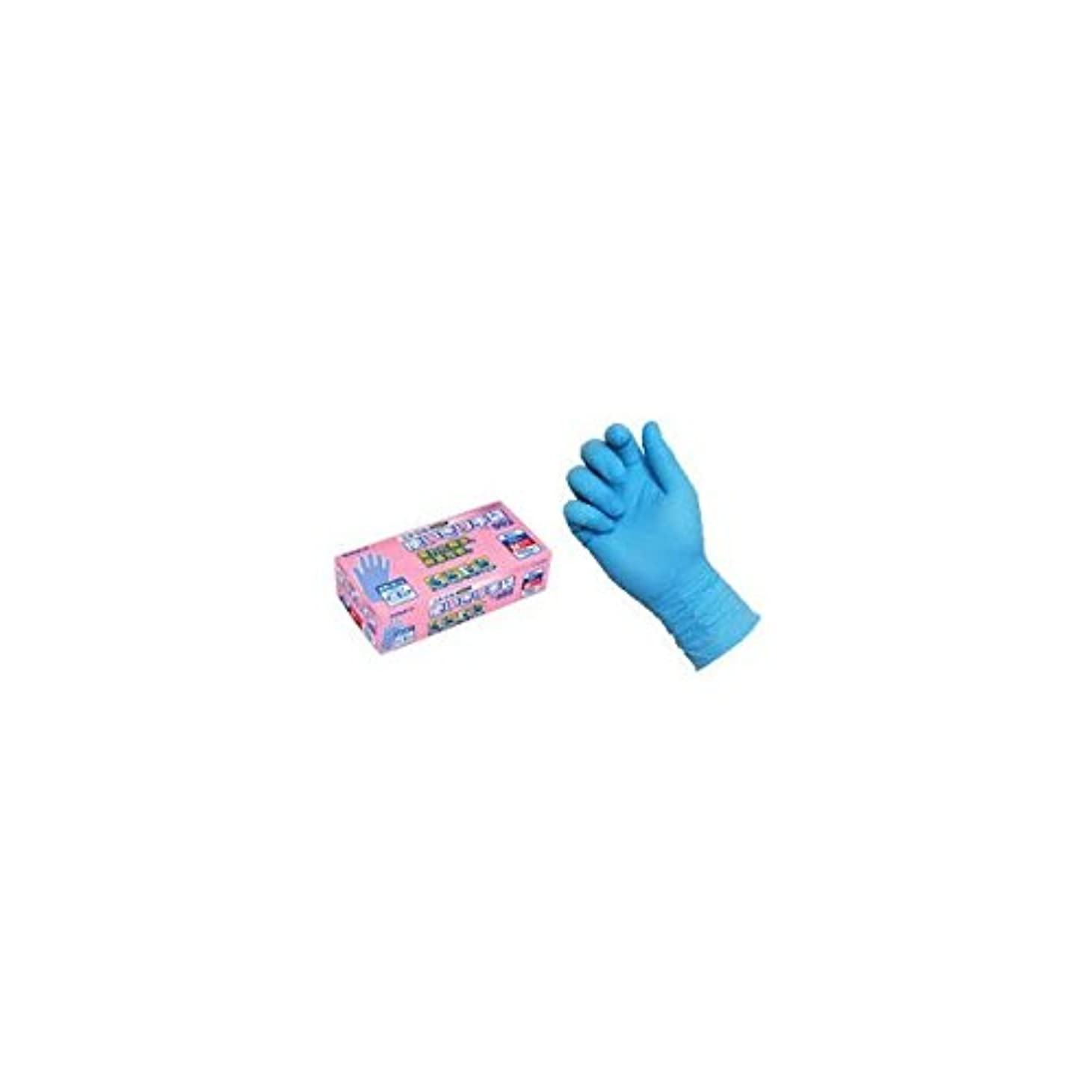 終点後ろに虫ニトリル使いきり手袋 PF NO.992 L ブルー エステー 【商品CD】ST4786