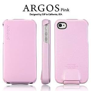 【 国内正規代理店品 】 SPIGEN SGP アイフォン 4 / 4S ケース Argos 【 PINK 】 本革 フリップタイプ for Apple iPhone 4 / 4S 【 SGP06830 】