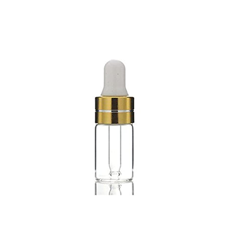 3ml 24Pcs Empty Upscale Refillable Amber/Clear Glass Massage Oil Essential Oil Elite Fluid Cosmetics Sample Dropper...