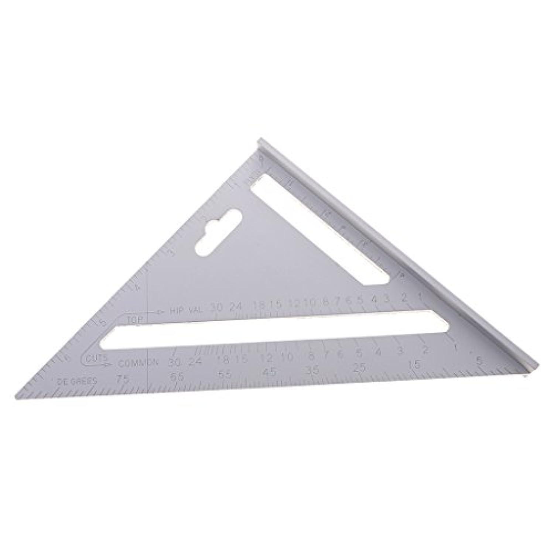 Homyl 7インチ ステンレス 三角形定規 速度 大工 フレーム測定ツール