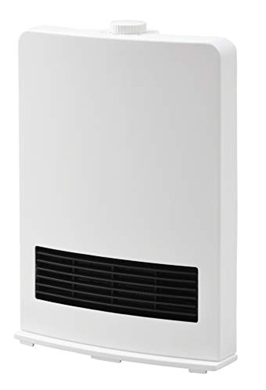 山善 セラミックヒーター(1200W/600W 2段階切替) ホワイト DF-J121(W)