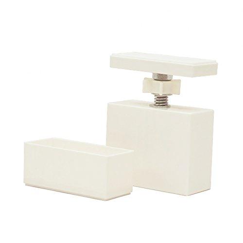 RoomClip商品情報 - 平安伸銅工業 LABRICO  DIY収納パーツ 2×4アジャスター オフホワイト DXO-1