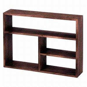 棚 チェリーウッド 木製 壁掛け ディスプレイ ダークブラウン 約45×10...