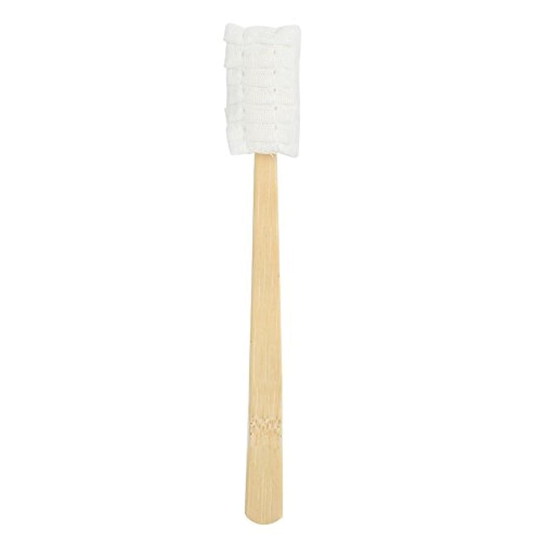 銅攻撃三角30pcs使い捨てマタニティソフトガーゼ歯ブラシ