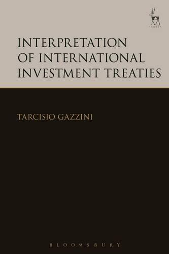 Download Interpretation of International Investment Treaties 1849462682