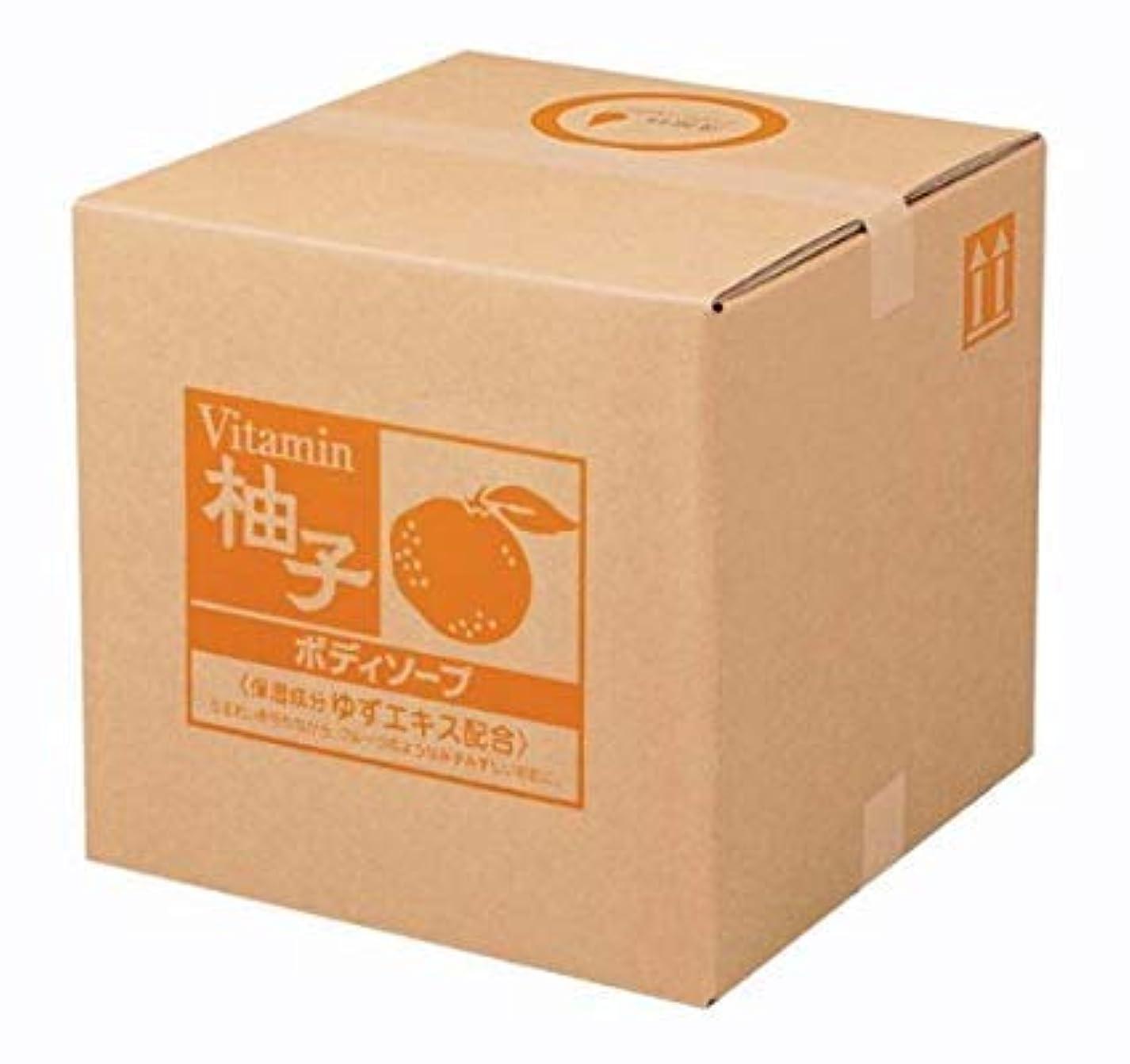 グリーンバック憲法ドット業務用 SCRITT(スクリット) 柚子 ボディソープ 18L 熊野油脂 (コック無し)