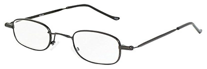 藤田光学 老眼鏡 携帯用 +2.5 度数 メタルフレーム ブラウン KD-01+2.50