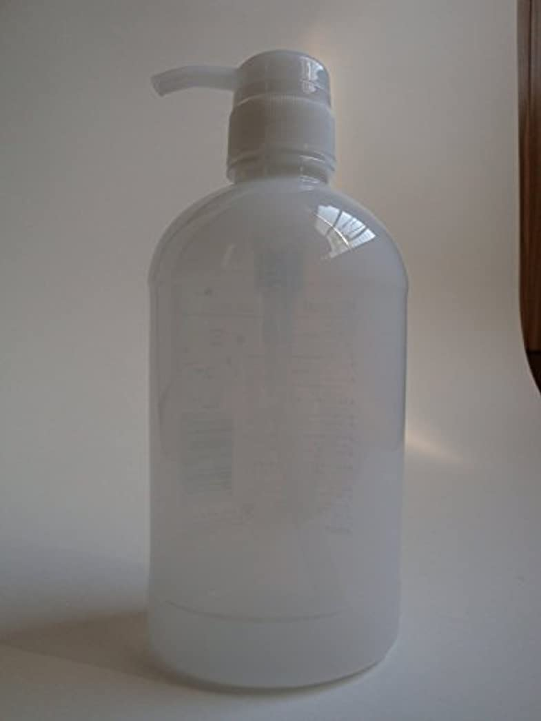 移植石鹸電気【シャンプー?コンディショナー?ボディソープの詰替用の容器にどうぞ!】ペットポンプ600mLクリアホワイト