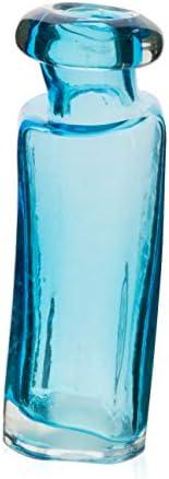 Boho Traders Organic Glass Vase, Small, Sky Blue