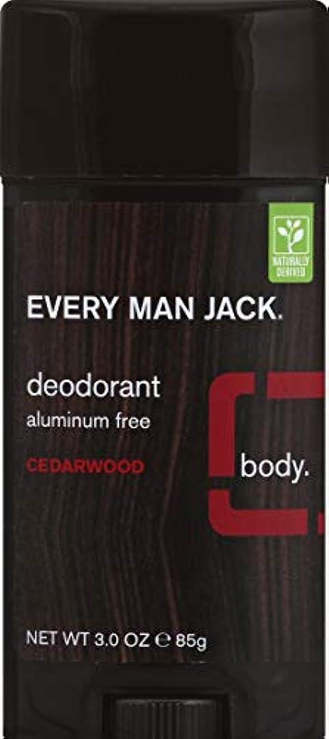 ベギン影響担当者Every Man Jack Deodorant Stick Aluminum Free Cedar Wood, Cedar Wood 3 oz by Every Man Jack 海外直送