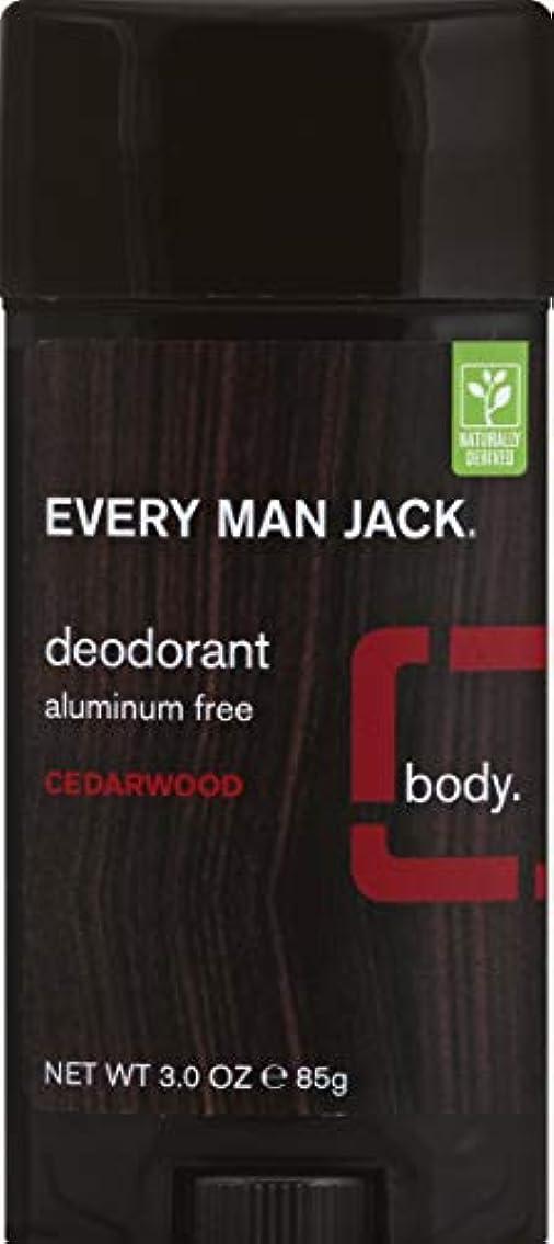 混乱バックアップ粉砕するEvery Man Jack Deodorant Stick Aluminum Free Cedar Wood, Cedar Wood 3 oz by Every Man Jack 海外直送