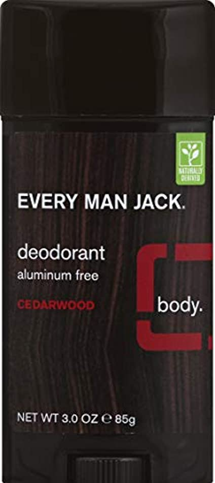 悲観的区別受け皿Every Man Jack Deodorant Stick Aluminum Free Cedar Wood, Cedar Wood 3 oz by Every Man Jack 海外直送