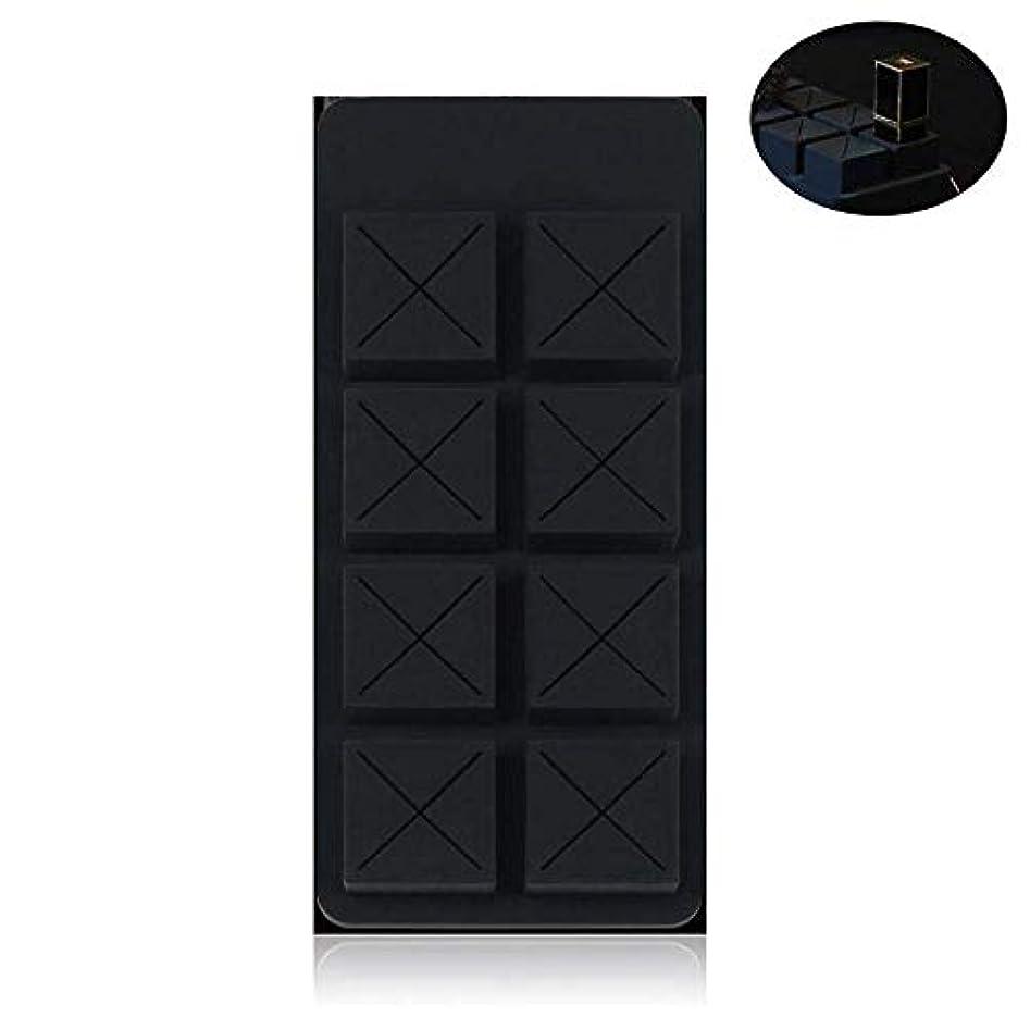 チョコレートシリコーン口紅収納ボックスミニエレガントなファッションガールデザイン化粧デスクトップ化粧仕上げボックスポータブル保存スペース8種類の口紅収納ボックス,D